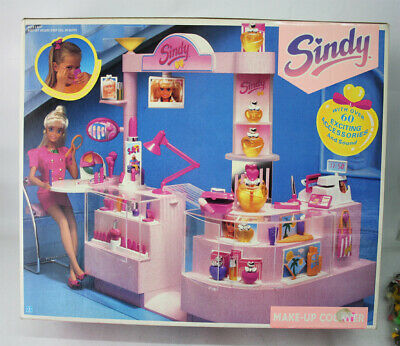 Very Rare Vintage 1991 Sindy Make Up Counter Playset Hasbro New Mib !