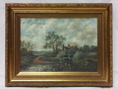 19thc Oil on Canvas Landscape Painting Signed Octavius Thomas Clark - 1 of 2