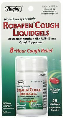 Robafen Cough Liquidgels Dextromethorphan Hbr, Usp 15 Mg - 20 Gels (Pack Of 6)