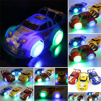 Funny Flashing Music Racing Car Electric Automatic Toy Boy Kid Birthday Gift NJ