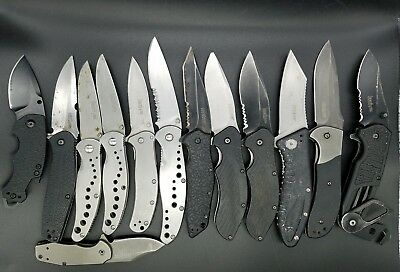 Lot Of 13 Kershaw Folding Knives - 8100, 3890, 1319, 1605, 1835, 1650, 1730...+