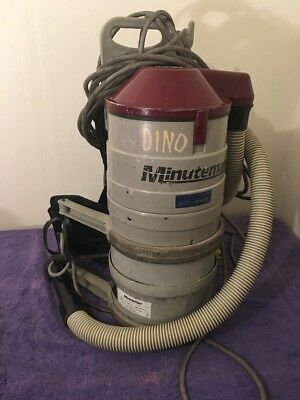 Commercial Minuteman Hepa Backpack Vacuum Cleaner Model C47185-00 With Hose