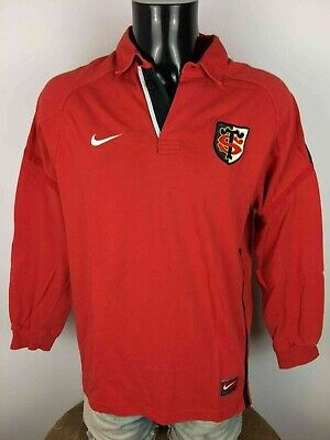 STADE TOULOUSAIN Maillot Jersey Nike True Vintage 90s Toulouse Rugby XV Top 14