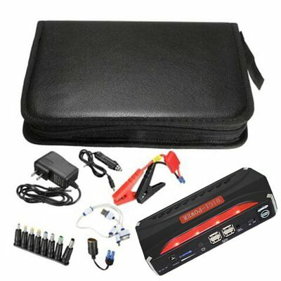 Jump Starter 68800mAh 4 USB Car Power Supply Rechargeable Power Bank Battery RT