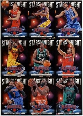 2012 13 Panini Marquee Basketball Stars Of The Night 20 Card Insert Set