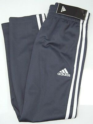 Adidas Boy's Striped Track Sweatpants - Gray & White