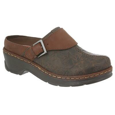 Klogs Audrey Women/'s Leather Clogs Display Model Taupe Suede Tapestry 10 M