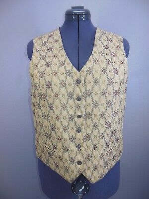 Wah Maker Vintage Western Vest Size XL Old Timey Reenactment Womens Extra Large