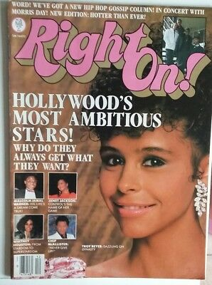 WHITNEY HOUSTON RARE Right On! MAGAZINE - December 1986 - Excellent Condition