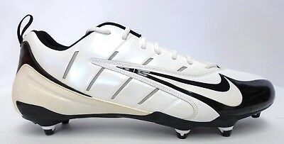 ad736d96c NIKE SUPER SPEED D White and Black Low Football Cleats - Size 16 ...