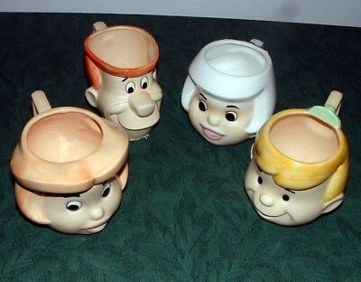 Jetsons: Jetson Family Mugs (4) - 1990 - Vandor - Excellent Condition