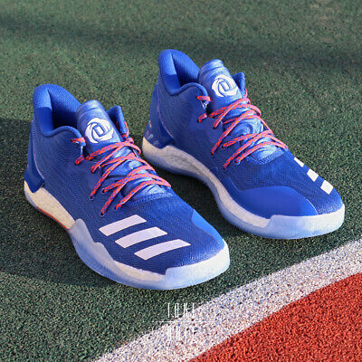 bf5db0a35a7f adidas D Rose 7 Low BY4499 Blue Orange Bulls Knicks Timberwolves Basketball  DS