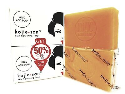 Genuine Skin Lightening Kojie San Kojic Acid Soap Whitening Acne Marks 2 x 135gm