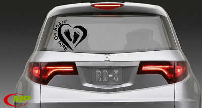 Baby on Board kids safety car/bumper/window vinyl stickers decals sign 1st class