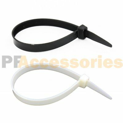 "10 /30 / 50 Pcs 12"" inch Super Heavy Duty 150 Lbs Nylon Cable Zip Tie Black Wire"