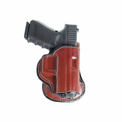 Paddle Holster For Ruger Lcr. Owb Leather Paddle With Adjustable Cant.