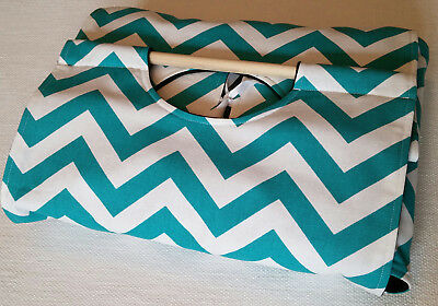 9X13 TURQUOISE CHEVRON Casserole Carrier, Handmade USA, Wedding Gift, Dish  Tote