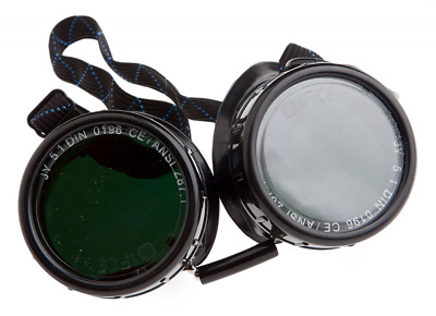 Forney 55311 Goggles, Oxygen Acetylene, Economy Eye-Cup 50MM Round Lens, Shade-5