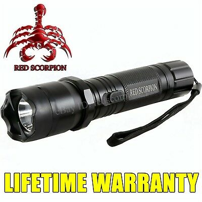 Stun Gun Self Defense Rechargeable - 180 Billion Volt Alloy Metal + LED Light