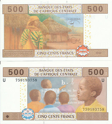 Central African St. / Kamerun / Cameroon - 500 Francs 2002 (2018) UNC - Pick New