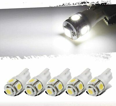 12x White T10 168 194 5-LED Bulb Car W5W Wedge Dash Roof Stop Parker Plate Light