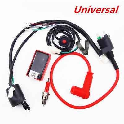 Wiring Harness Switch Ignition Coil CDI Kit for 110 125 140 150cc Motorcycle ATV