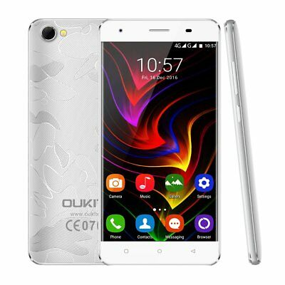 "2+16GB 5,0"" OUKITEL C5 Pro 4G Android 6.0 Quad-Core Handy Dual SIM Silber 8MP SN"