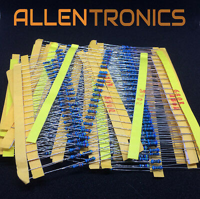 30 Value 1/4W Resistance 1% Metal Film Resistor Assorted 20pcs-600PCS