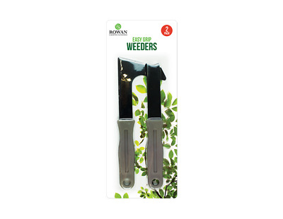 2pc Garden Patio Knife Weed Weeding Weeder Remover Tool Set Moss Paving  - GREY
