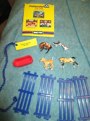 Breyer Stablemates Puppies & Foals set horses dogs fencing free shipping