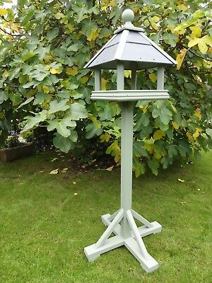 Bird Table, Wooden, Natural Slate Roof, Large Belfry house, Choice of colours,