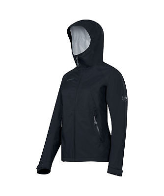 Mammut Ebba Jacket, Womens Waterproof, Black, L