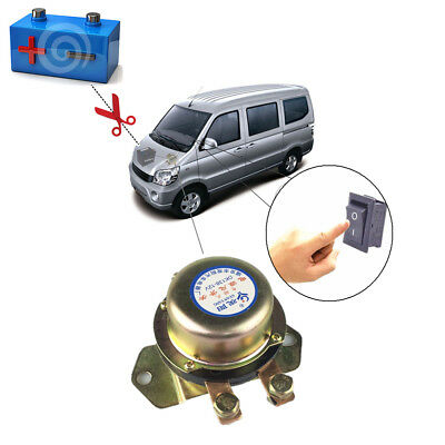 Anti-theft Car Power Main Switch Control Kit Battery On/ Off Latching Button 12V