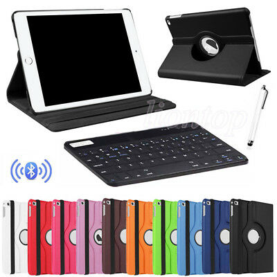 """For Apple iPad 9.7"""" 6th Gen 2018 Rotating Smart Case Cover + Bluetooth Keyboard"""
