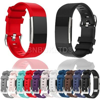 Replacement Silicone Sports Band Strap for Fitbit Charge 2 Fitness Tracker
