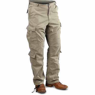 "Khaki Small Vintage Paratrooper Fatigue Pants (27""-31"")"