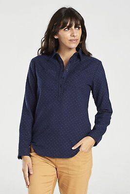 United By Blue W's Lore Wool Popover, Navy, L