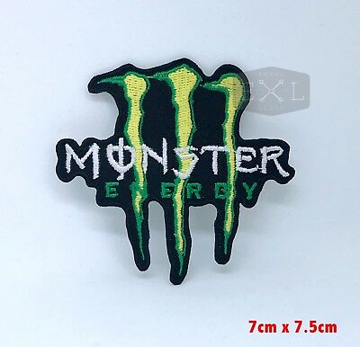 Monster Energy Drink Motocross Logo Iron on Sew on Embroidered Patch