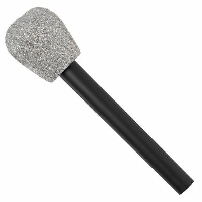 Glitter Microphone Accessory Fancy Dress 1980s Funny Fake Kids Mic Singer Amscan