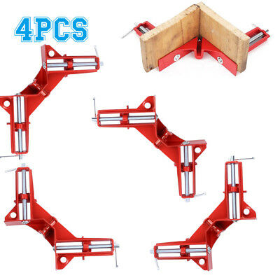 4X 90° Degree Right Angle Corner Mitre Clamps Woodwork Picture Frame Holder Tool