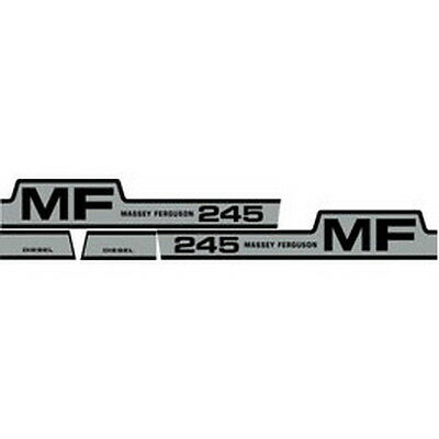 New Massey Ferguson Tractor Hood Decal Kit Mf 245 High Quality Vinyl Decals