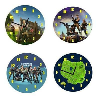 Fortnite  Wooden Wall Clock - 4 Great Designs - Free Postage