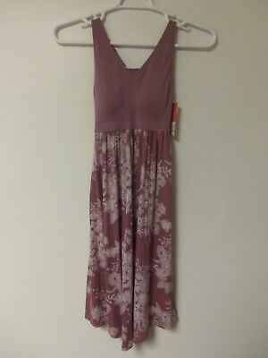 Gilligan & Omalley Womens Sleepwear Dress Purple Floral Sleeveless Size XS NWT