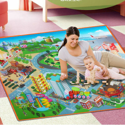 Kids Crawling Educational Game Play Mat Soft Foam Picnic Carpet Playmats