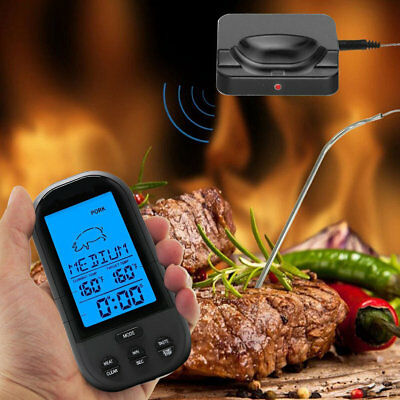 Digital Wireless Barbecue BBQ Meat Thermometer Remote Grill Cooking Food Probe 2