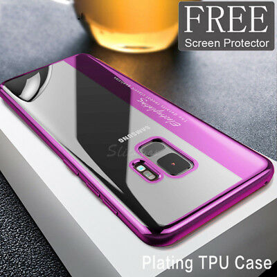 For Samsung Galaxy S8 S9 Plus Note 8 Ultra Slim 360° Shockproof TPU Case Cover