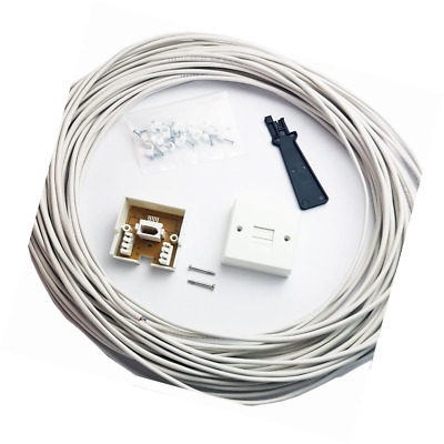 15M BT Telephone Master Socket/Box Line Extend Extension Cable Kit - 10m 15m Lea