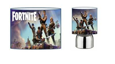 FORTNITE d2 DRUM LAMPSHADE & TOUCH LAMP SET KIDS FREE P+P and FREE GIFT
