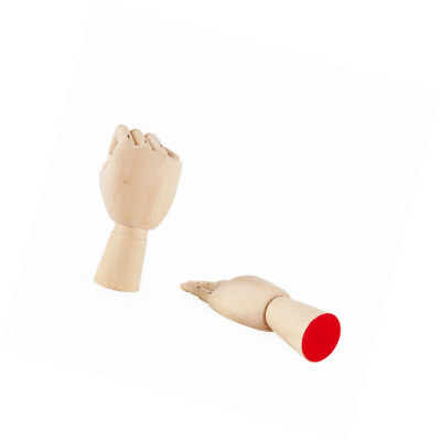 PDFans Wooden Hand Manikin Jointed Articulated Flexible Fingers Hand Mannequin f