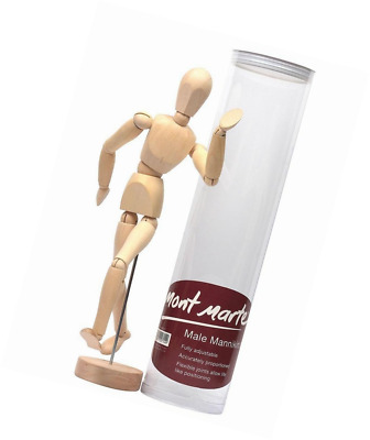 MONT MARTE Mannekin Male 30cm in Acetate Box - Body Doll, wooden Puppet, Mannequ